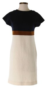 Les Copains Wool Color-blocking Shift Sheath Dress