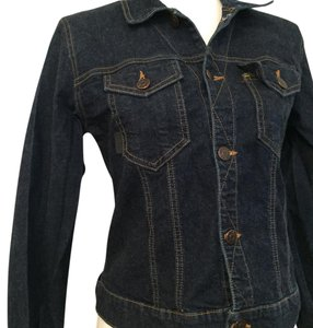 Anna Sui Casual Blue Denim Womens Jean Jacket