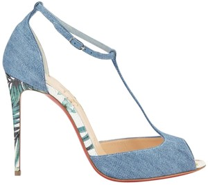 Christian Louboutin Heels Stiletto Rivierina Denim Sandals