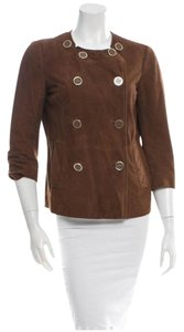 Tory Burch Chestnut brown Leather Jacket