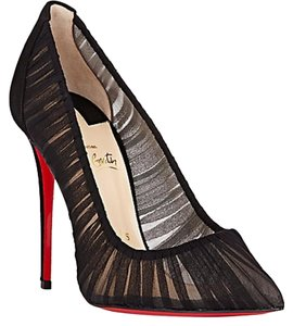 Christian Louboutin Heels Stiletto Tulle Black Pumps