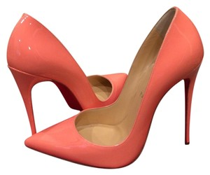 Christian Louboutin Heels Stiletto So Kate Patent Flamingo Pink Pumps