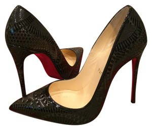 Christian Louboutin Heels Stiletto Laser Cut Black Pumps