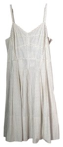 Maison Jules short dress Ivory combo Cotton Ivory Mini Print on Tradesy