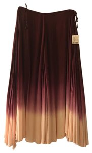 Free People Skirt Deep Red Ombre