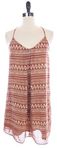 Rhapsody short dress BROWN New Aztec Print on Tradesy