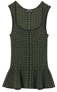 Torn by Ronny Kobo Stars Peplum Top Dark green/black