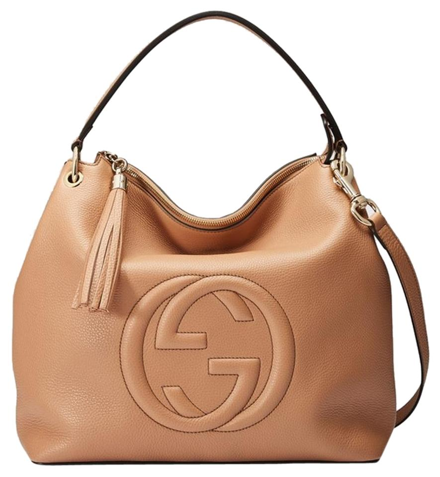 733161d85b87 Gucci Soho Rose Beige Nude Leather Hobo Bag - Tradesy
