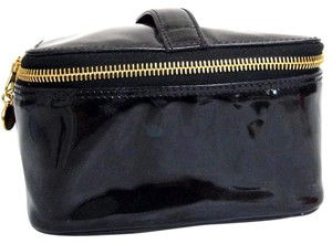 Chanel Chanel Cosmetic Vanity Hand Bag Purse Black Patent Leather Vintage Italy