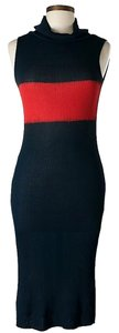 Piazza Sempione Knit Color-blocking Dress