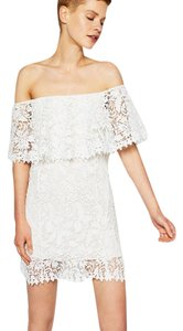 Zara Lace Off The Guipure Sleeveless Dress