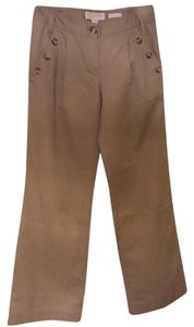 Michael Kors Chino Front Pleats Khaki/Chino Pants Beige