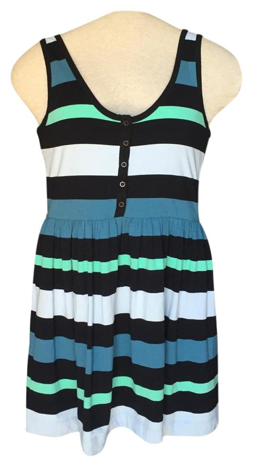 95afde3bf0d French Connection Striped Cotton Tank Above Knee Short Casual Dress ...