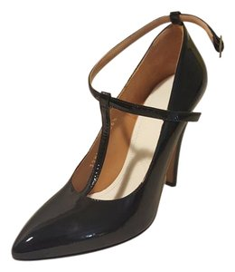 Maison Margiela Patent Leather T-strap Black Pumps