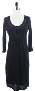 Boden short dress BLACK Half Sleeve Wool Blend Simple on Tradesy