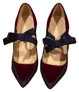 J.Crew Burgundy And Blue Gray Pumps