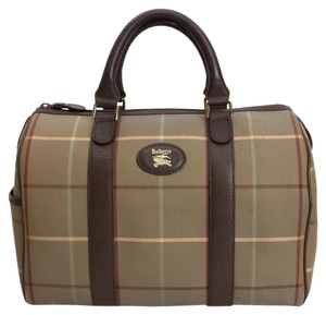 Burberry Vintage Satchel in Light Olive green