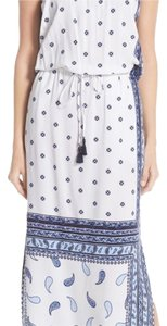 White w/ blue paisley print Maxi Dress by Tommy Bahama