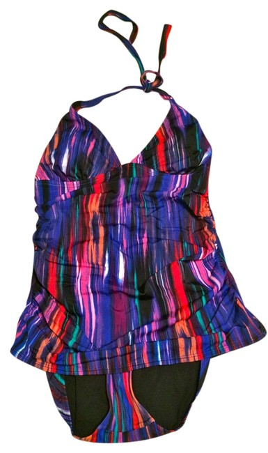 Item - Multicolor By Knowles Faux Tankini One-piece Bathing Suit Size 12 (L)