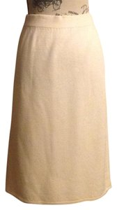 St. John Knit Skirt Skirt Cream