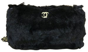 Chanel Fur Rabbit Fur Leather Cross Body Bag