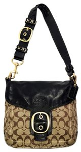 Coach Gold Hardware Woven Business Casual Shoulder Bag