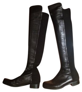 Stuart Weitzman 5050 Knee Overtheknee Black Leather Nappa Black/Black Boots