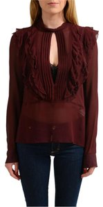 Just Cavalli Top Burgundy