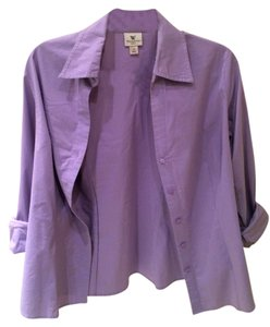 Worthington Button Down Essential Button Down Shirt Lavender