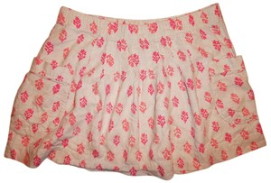 Old Navy Flowy Mini Skirt Ivory, Pink