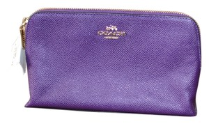 Coach Coach Textured Leather Cosmetic Case