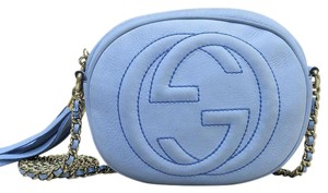 Gucci Suede Mini Soho Chain Cross Body Bag