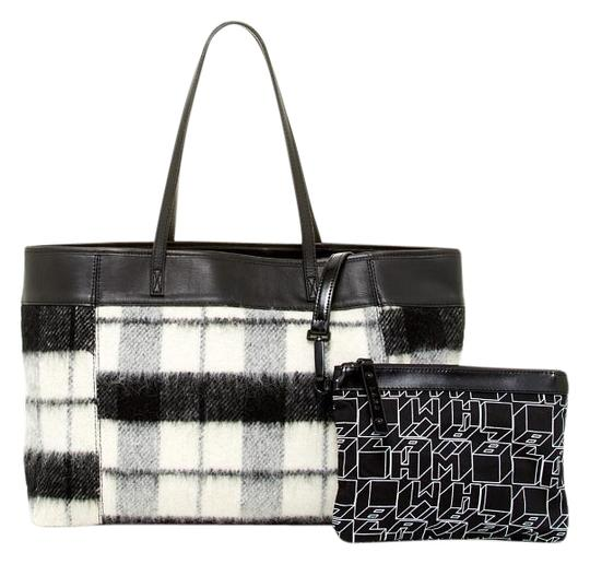 Preload https://img-static.tradesy.com/item/17639914/lamb-halena-flannel-fabric-and-leather-exterior-tote-0-1-540-540.jpg