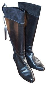 Charles Jourdan Black leather & suede Boots
