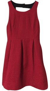 Moulinette Soeurs Red Cocktail Red Formal Sexy Red Open Back Dress