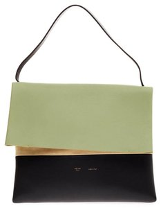 Céline All Soft Leather Tote in Mint Green, Taupe, Black