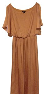 H&M Pleated Flutter Satin Midi Stretchy Dress