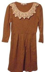 Forever 21 short dress Camel Brown Crochet Wool Holiday on Tradesy