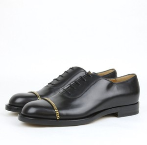 Gucci Gucci Mens Leather Lace-up Oxford W/ Metal Chain