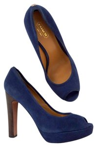 Coach Blue Suede Pumps