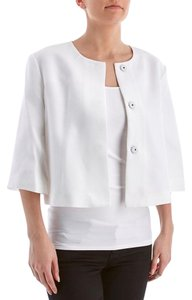 Ellen Tracy Cropped White Jacket