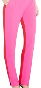 BCBGMAXAZRIA Straight Pants pink and red