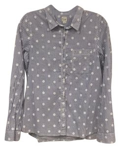 Madewell Button Down Shirt Blue, White