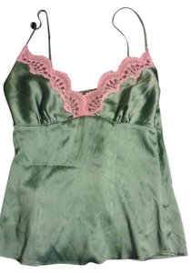 bebe Silk Lace Top Green