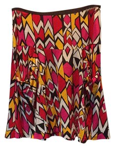 Diane von Furstenberg Skirt Pink, red, yellow, black, white