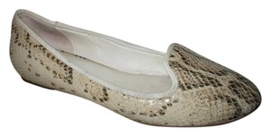 Cole Haan Leather Python tan & brown snakeskin print Flats