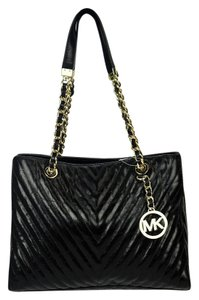 Michael Kors Quilted Leather Tote in Black