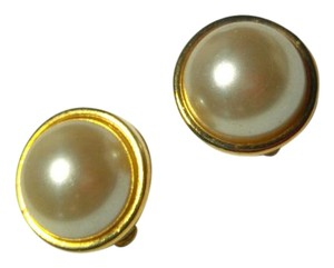 Buy 2 Get 1 Pair Free Clip On Earrings Gold White Pearl E809