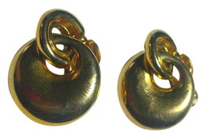 Buy 2 Get 1 Pair Free CLIP ON Earrings Gold Tone Dangle E813