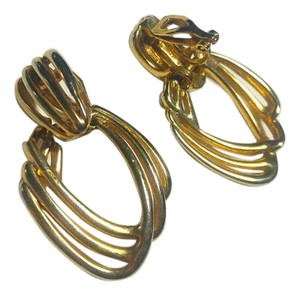 Other Buy 2 Get 1 Pair Free CLIP ON Earrings Gold Tone Long Dangle E816